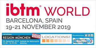 Trade fair participation at ibtm world and LOCATIONS Munich