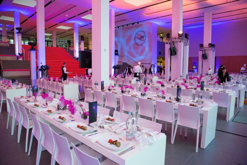 Festively decorated gala event