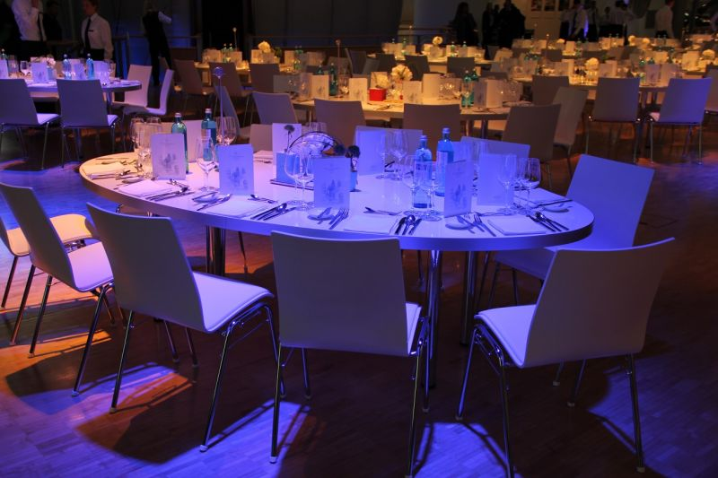 Event furniture - table setup and chairs