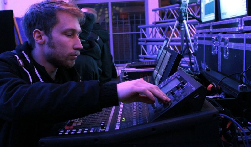 Career as event technician at Brähler