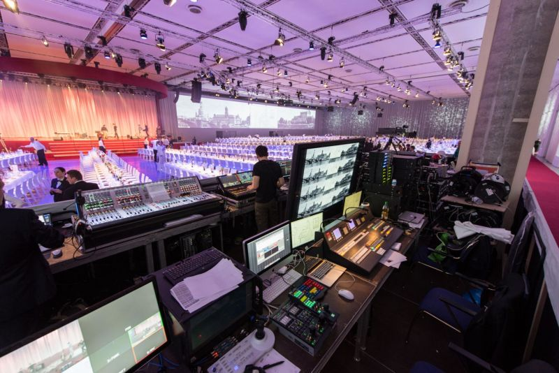 View on an event from the perspective of the event technicians